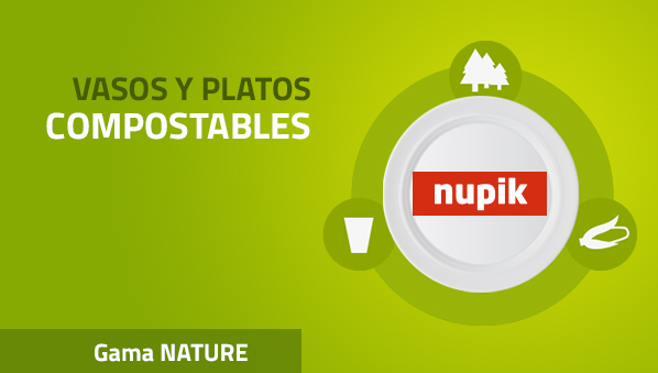 Vasos y Platos 100% Biodegradables